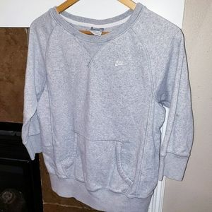 NIKE PULLOVER 3/4 SLEEVE FRONT POUCH SWEATSHIRT